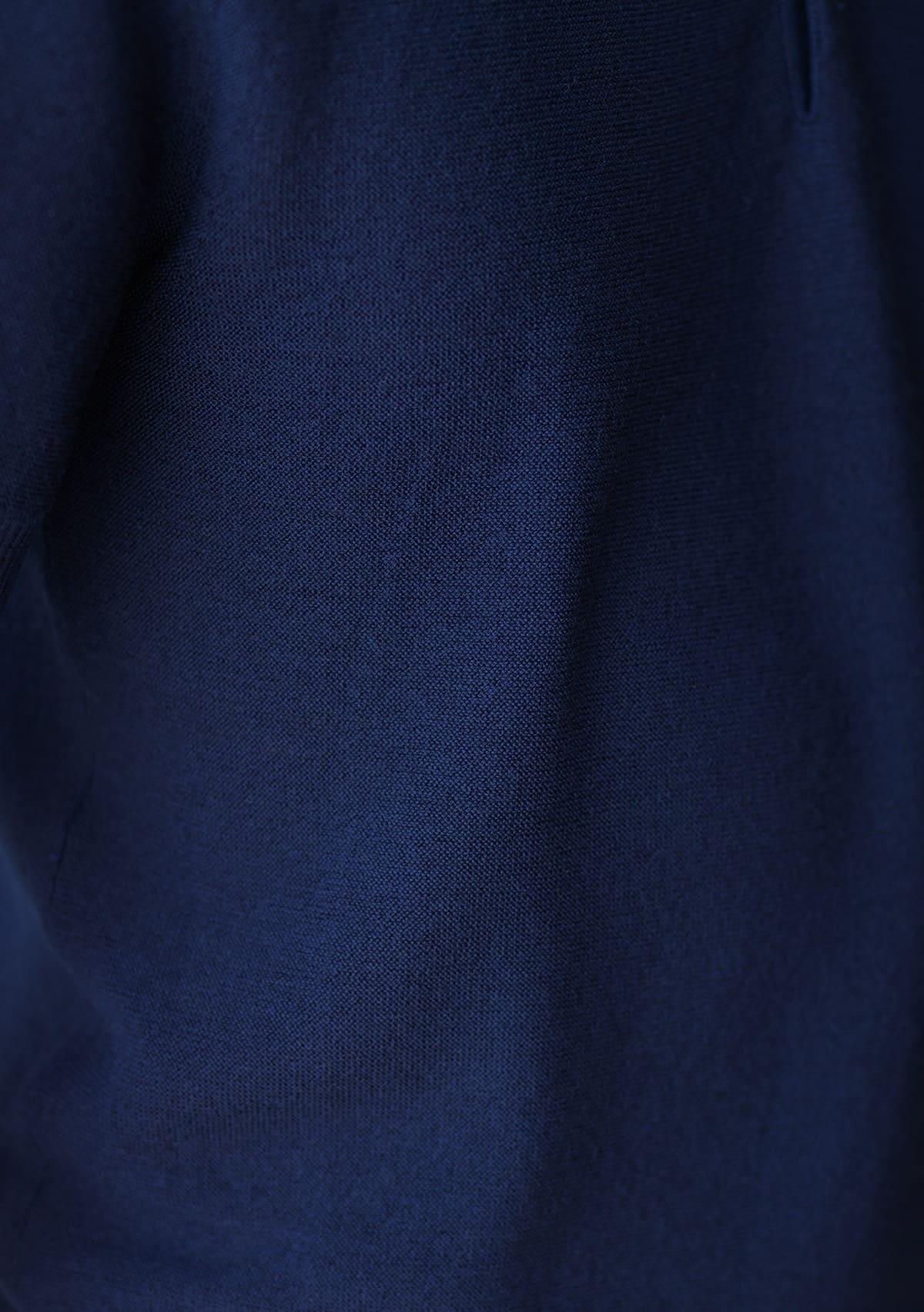 さらりとした着心地のウール素材ニットポロシャツ